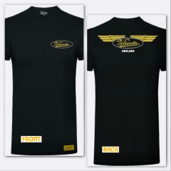 gcm001 velocette – wings t-shirt – black