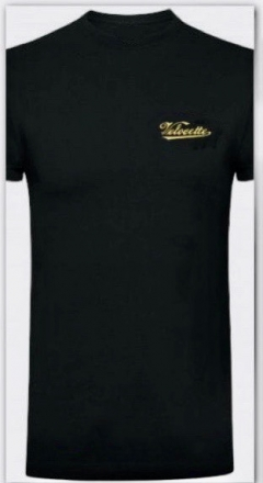 gcm006- velocette embroidered t_shirt black
